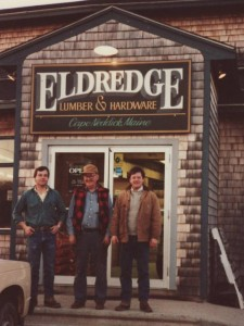 Eldredge Lumber History - Scott Eldredge with Dad and Brother