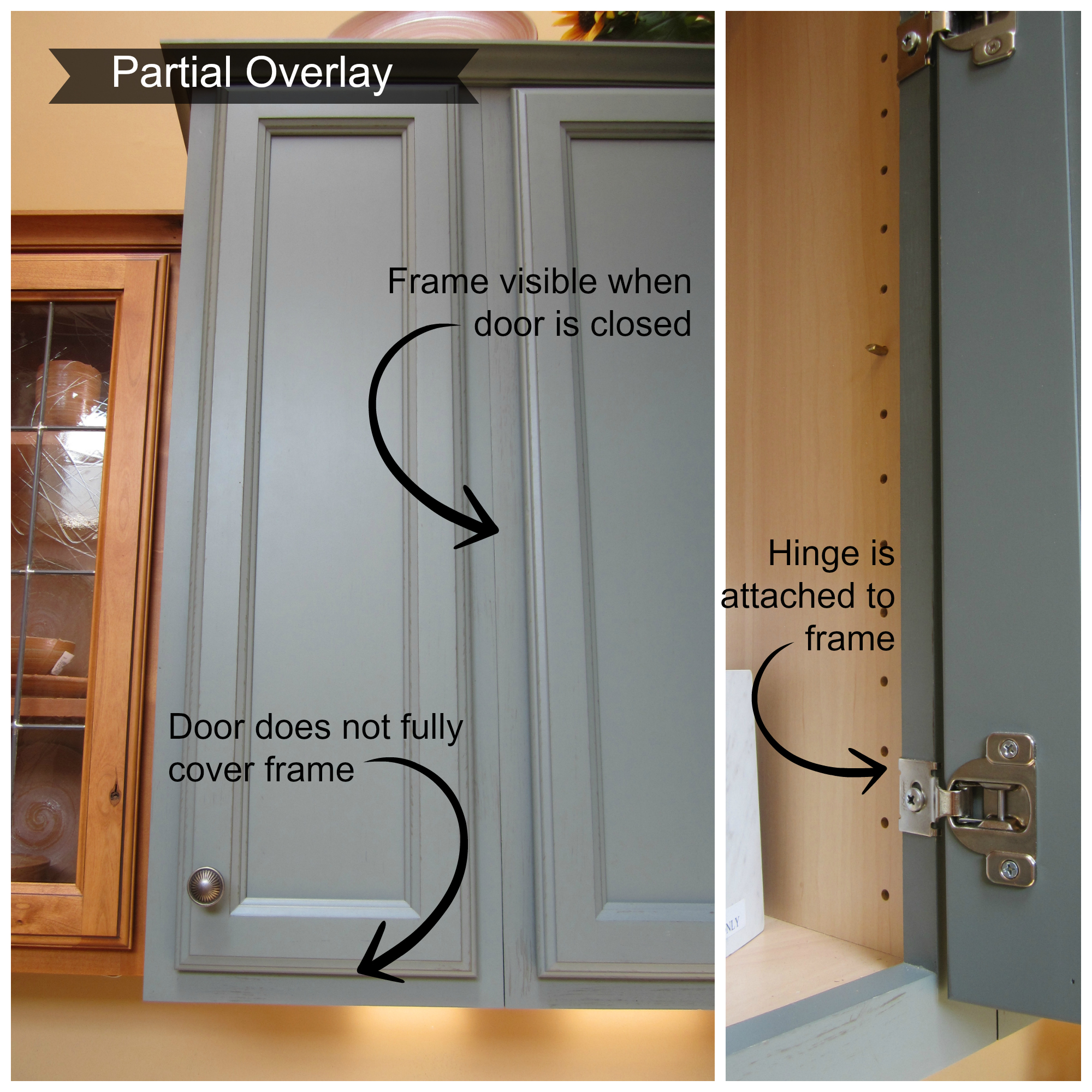 Deeper Usually ½ 1 To Account For The Loss Of E From Door There Is But Not Always A Premium Charge Inset Cabinetry Partial Overlay